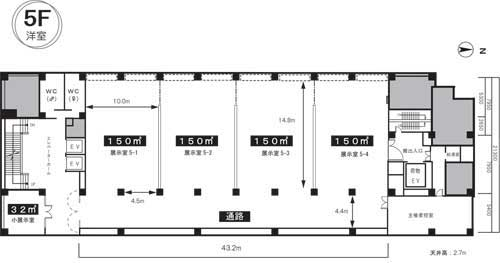 5F貸展示室図面