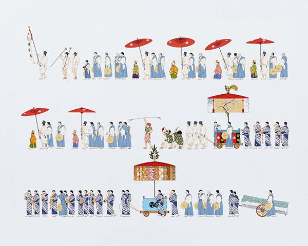 『祇園祭山鉾絵図』より「綾傘鉾」